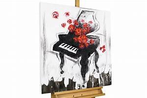 Schwarz Weiß Bilder Mit Rot : handgemaltes acryl bild mit piano kaufen kunstloft ~ A.2002-acura-tl-radio.info Haus und Dekorationen