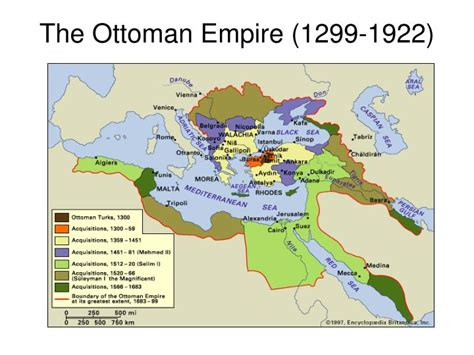 Ottoman Empire 1299 ppt of the middle east powerpoint presentation