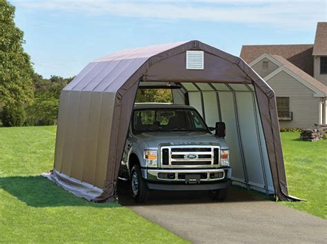 canvas storage sheds menards portable garages temporary carports all weather