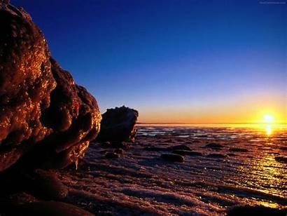 Sun Sky Wallpapers Sunset Beach Sunglow Nature