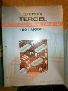 1991 Toyota Tercel Electrical Wiring Diagram Service