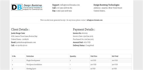 tricks templates boostrap invoice template html bootstrap 10 thoughts you have as
