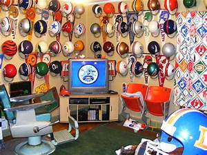 NFL Themed Man Cave Ideas Sports Man Cave Ideas