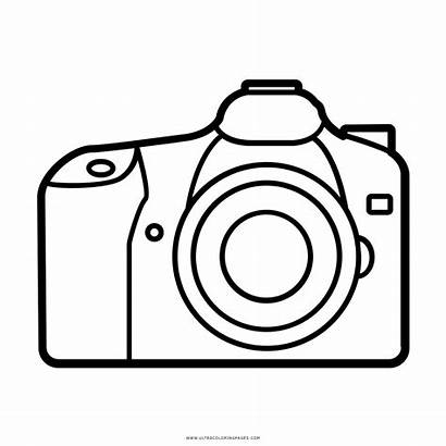 Camera Drawing Coloring Template Sketch