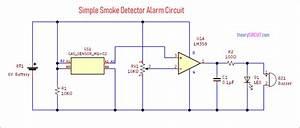 Simple Smoke Detector Alarm Circuit Using Mq02