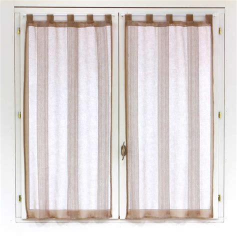 paire de voilages pour fen 234 tre lin 60x120cm