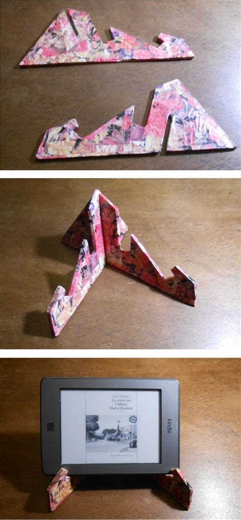 diy cardboard tablet stand project  ilvespaio template