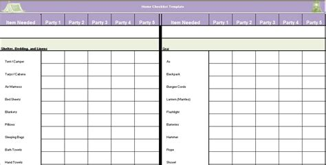 home inspection checklist template excel  word excel tmp