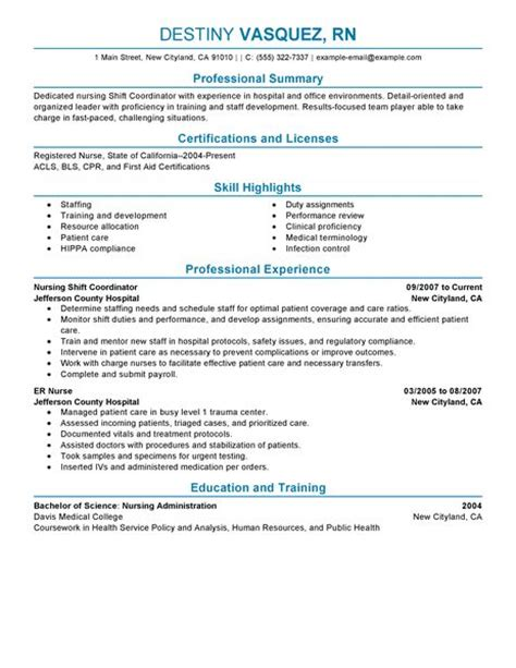 Home Health Care Coordinator Resume by Shift Coordinator Resume Exles Healthcare Resume