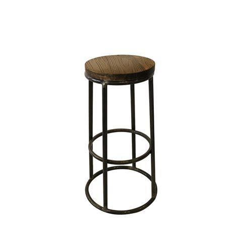 table avec tabouret cuisine tabouret de bar indus bois métal fredo par drawer fr