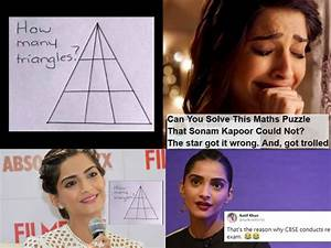 Sonam Kapoor Trolled For Her Answer To A Maths Puzzle  Can You Solve It