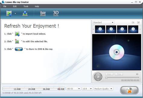 blu ray creator  blu ray burning software