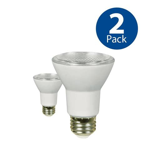 shop utilitech 2 pack 50 w equivalent dimmable warm white