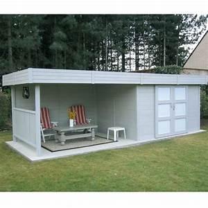 Abri De Terrasse : abri de jardin en bois massif 28mm 7 65m toit plat ~ Premium-room.com Idées de Décoration