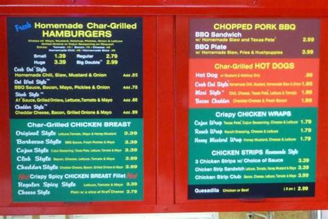 cookout menu menu 1 picture of cook out portsmouth tripadvisor