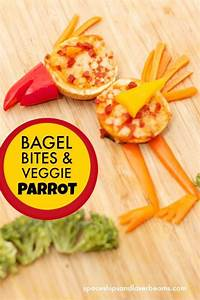 How To Make A School Schedule Easy To Make Kid 39 S Snack Food Bagel Bite Animals