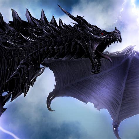 wallpaper skyrim dragon alduin hd  creative graphics