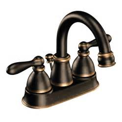shop moen caldwell mediterranean bronze 2 handle 4 in centerset watersense bathroom faucet