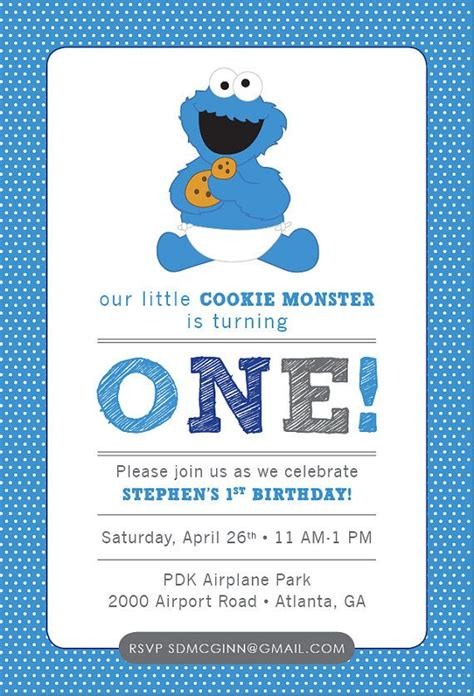Cookie Invitation Template by Cookie Invitation Template Free Songwol
