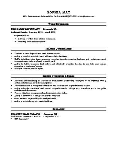 Fast Food Cashier Resume Exles by Cashier Resume How To Write 16 Exles Hloom