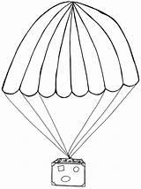 Parachute Coloring Clipart Colouring Parachuting Drawing Sketch Template Paragliding Cartoon Sheets sketch template