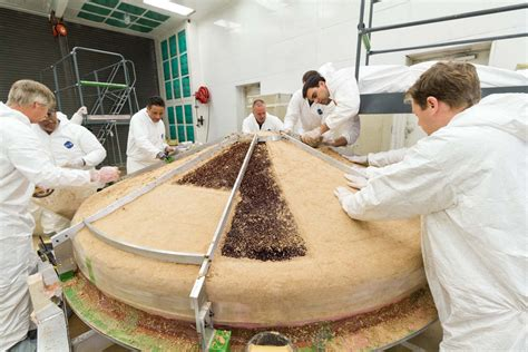 space images heat shield construction  nasas insight