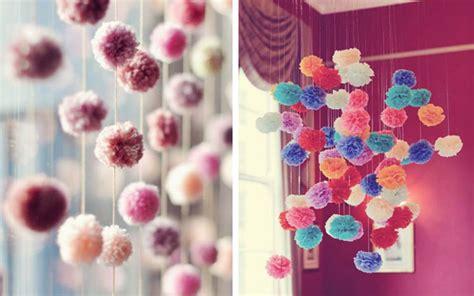 ideas diy  decorar  pompones kena