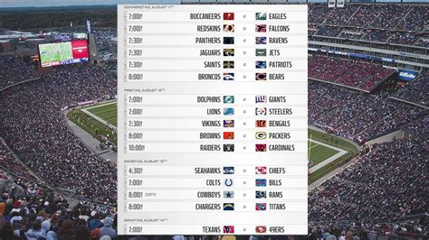 nfl preseason week  schedule youtube