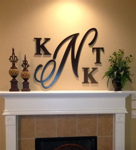 large   wooden monogram hand painted wooden letters