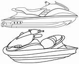 Ski Jet Coloring Pages Fun Models sketch template