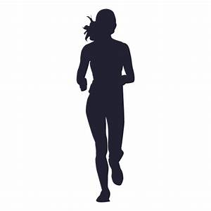 Female marathon running silhouette - Transparent PNG & SVG ...