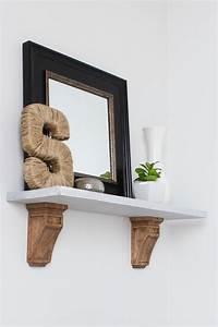 Diy, Wall, Shelf, With, Corbels