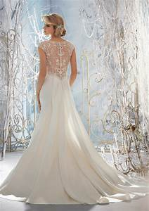 gorgeous beaded back wedding dresses sang maestro With wedding dress back