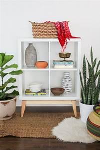 Kleines Regal Ikea : ikea hack mid century modern kalax ikea kallax regal ikea hack wohnzimmer und ikea diy ~ Watch28wear.com Haus und Dekorationen