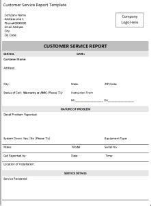 Definition Of Customer Service Exle by Free Excel Customer Service Report Template Ms
