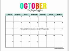 Printable Calendar 2018 in Full Colors Free to Print!