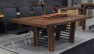 Table De Cuisine En Bois : tables en bois massif signature st phane dion ~ Teatrodelosmanantiales.com Idées de Décoration