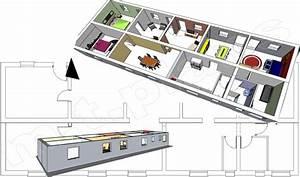 plan maison contemporaine 120m2 With plan de maison en longueur
