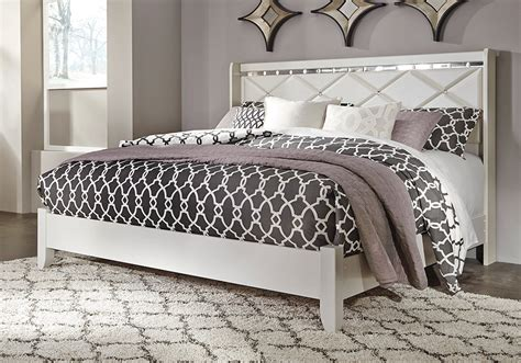 dreamur champagne king panel bed