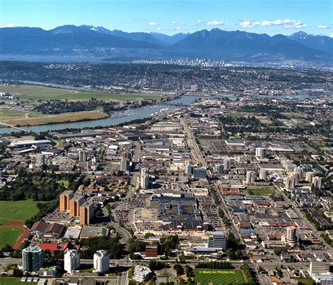 city  richmond bc aerial photograph view  richmond
