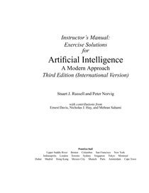 Artificial Intelligence A Modern Approach 3e Solutions - Intel