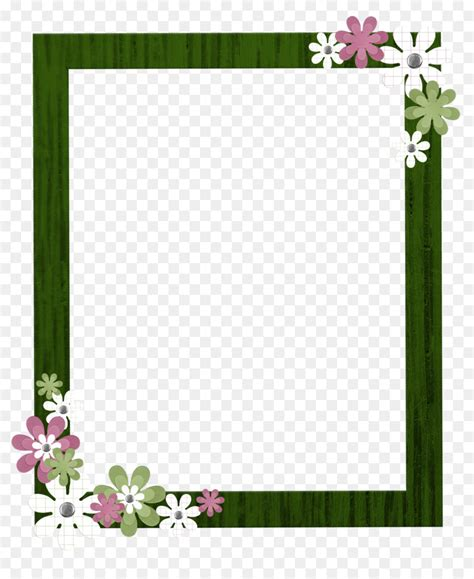 Border Picture Hd by Picture Frame Clip Green Border Frame Png