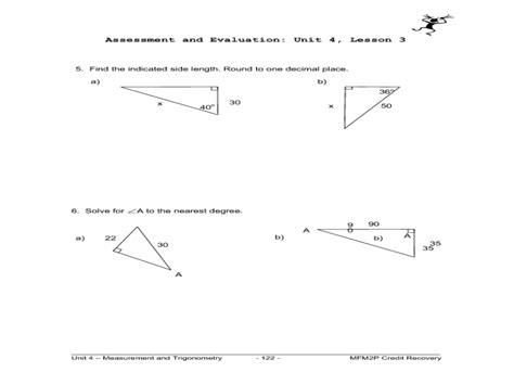 Math Worksheet Trigonometry  Trigonometric Ratios Passy S World Of Mathematicssolving Equations