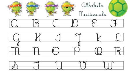 09 alfabeto em letra minuscula cursiva caligrafia cantinho educar alfabeto letra