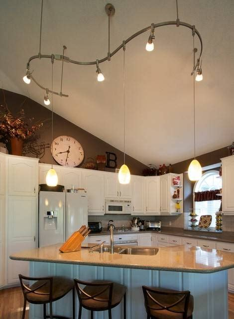 track lighting kitchen sloped ceiling 15 collection of pendant lights for vaulted ceilings 8574