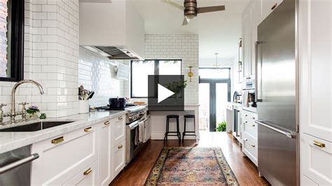 galley kitchen makeover  cramped  classic
