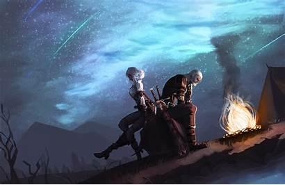 Witcher Ciri Geralt 4k Pc Wallpapers Rivia