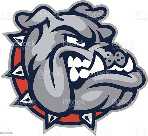 bulldog mascot head stock illustration  image