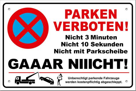 schild parken verboten schild parken verboten lustig parkverbotsschild inkl