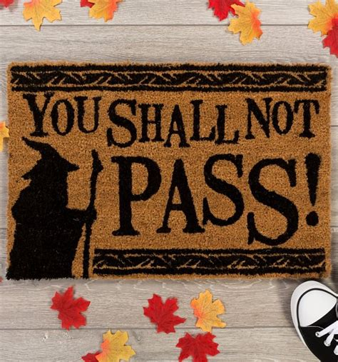 you shall not pass doormat lord of the rings you shall not pass door mat